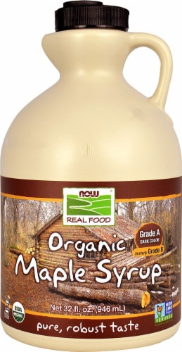 NOW Foods Organic Grade A Maple Syrup Perspective: front