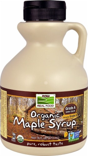 NOW   Real Food Organic Maple Syrup Grade A Perspective: front