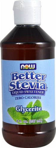 NOW  BetterStevia™ Glycerite Alcohol Free Liquid Extract Perspective: front