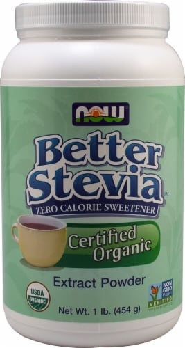 NOW  BetterStevia™ Organic Extract Powder Perspective: front
