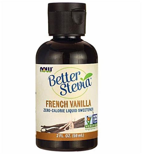 NOW Foods  BetterStevia™ Liquid Sweetener   French Vanilla Perspective: front
