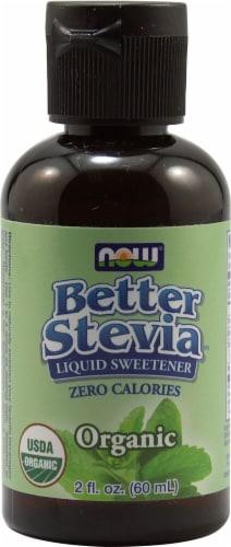 NOW Foods  BetterStevia® Organic Liquid Sweetener Perspective: front