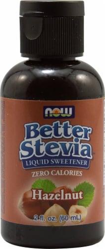 NOW Foods  BetterStevia™ Liquid Sweetener   Hazelnut Perspective: front
