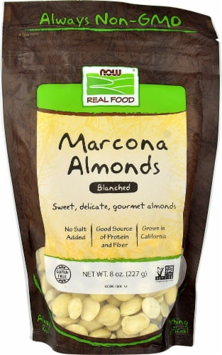NOW   Real Food Marcona Almonds Blanched Perspective: front