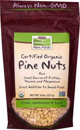 NOW   Real Food Organic Pine Nuts Perspective: front