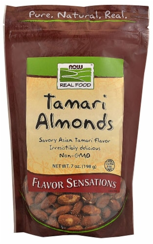 NOW   Real Food Tamari Almonds Perspective: front