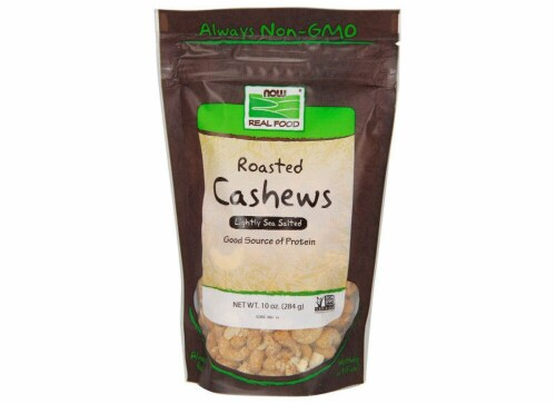 NOW   Real Foods Roasted Cashews Lightly Sea Salted Perspective: front