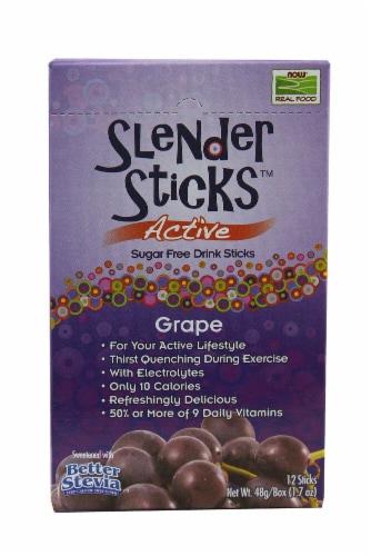 NOW Foods  Real Food™ Slender Sticks™ Sugar Free Drink Sticks   Grape Perspective: front