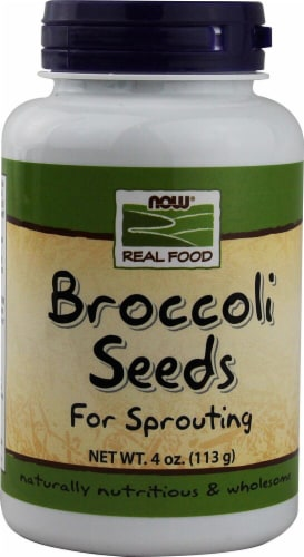 NOW  Real Food Broccoli Seeds For Sprouting Perspective: front
