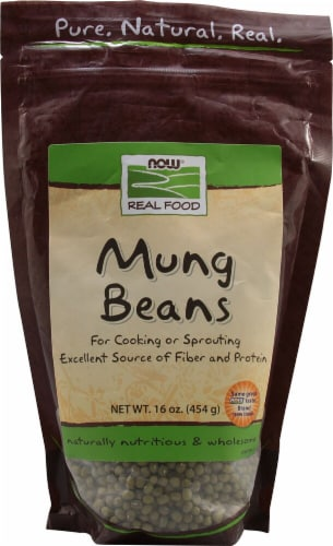 NOW   Real Food Mung Beans Perspective: front