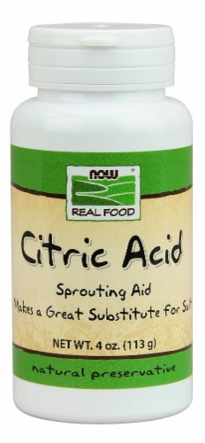 Now Real Food Citric Acid Perspective: front
