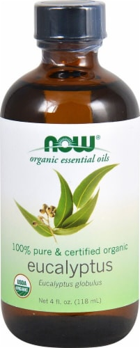 NOW Foods  Organic Essential Oils Eucalyptus Oil Perspective: front