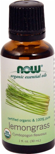 NOW Foods  Organic Essential Oils Lemongrass Perspective: front