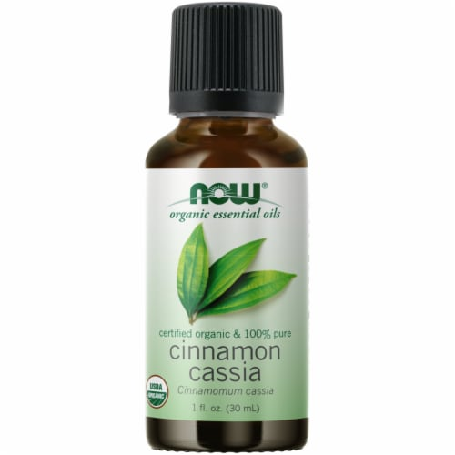 NOW Foods Organic Cinnamon Cassia Essential Oil Perspective: front