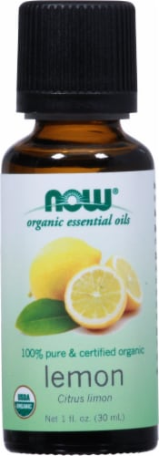 NOW Foods  Organic Essential Oils Lemon Perspective: front