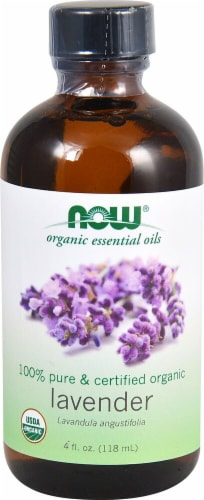 NOW Foods  Organic Essential Oils Lavender Oil Perspective: front