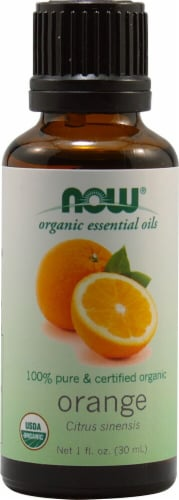 NOW Foods  Organic Essential Oils Orange Perspective: front