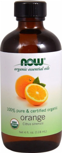 NOW Foods  Organic Essential Oils Orange Perspective: front