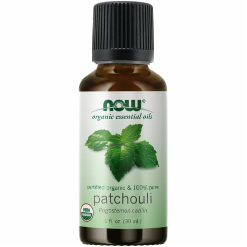 NOW Foods Organic Patchouli Essential Oil Perspective: front