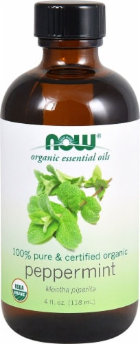 NOW Foods  Organic Essential Oils Peppermint Oil Perspective: front