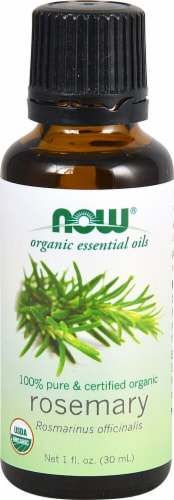 NOW Foods  Organic Essential Oils Rosemary Oil Perspective: front