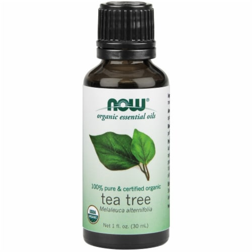 NOW Foods  Organic Essential Oils Tea Tree Perspective: front