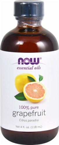 NOW Foods  Essential Oils Grapefruit Oil Perspective: front