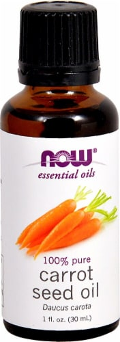 NOW  Essential Oils Carrot Seed Oil Perspective: front