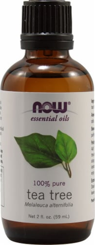 NOW Foods  Essential Oils Tea Tree Perspective: front