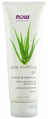 NOW Foods Solutions Aloe Soothing Gel Perspective: front