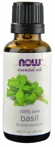 NOW Foods  Essential Oils Basil Perspective: front
