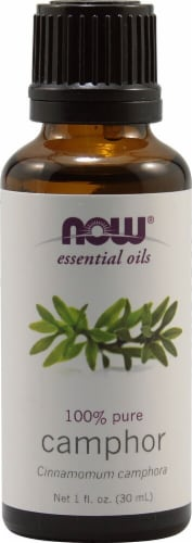 NOW Foods  Essential Oils Camphor Perspective: front