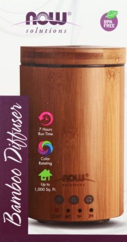 NOW  Solutions Real Bamboo Ultrasonic Oil Diffuser Perspective: front