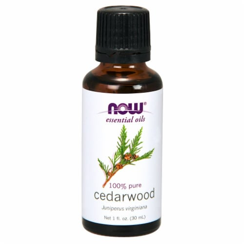 NOW Foods  Essential Oils Cedarwood Perspective: front