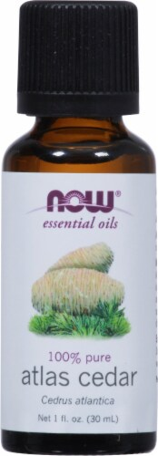 NOW Foods  Essential Oils Atlas Cedar Oil Perspective: front