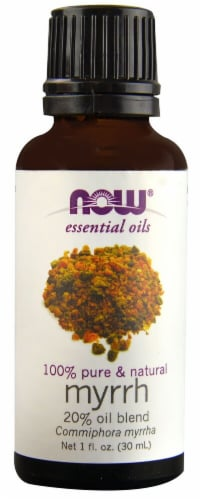NOW Foods  Essential Oils Myrrh Perspective: front