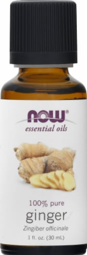 NOW Foods Essential Oils Ginger Perspective: front