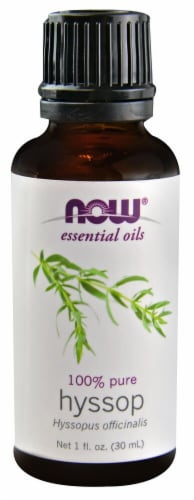 NOW Foods  Essential Oils Hyssop Perspective: front