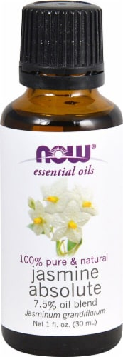 NOW Foods  Essential Oils Jasmine Absolute 7.5% Oil Blend Perspective: front