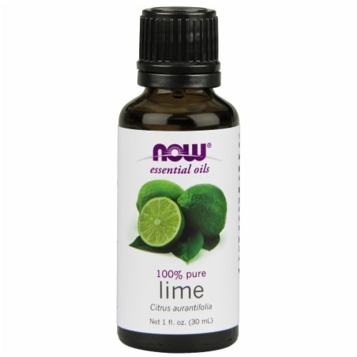 NOW Foods  Essential Oils Lime Perspective: front