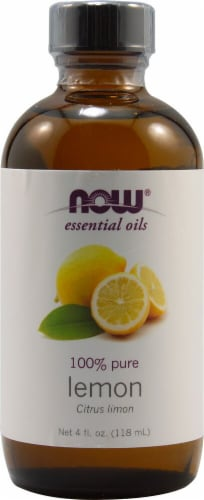NOW Foods  Essential Oils Lemon Perspective: front