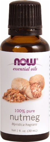 NOW Foods  Essential Oils Nutmeg Perspective: front