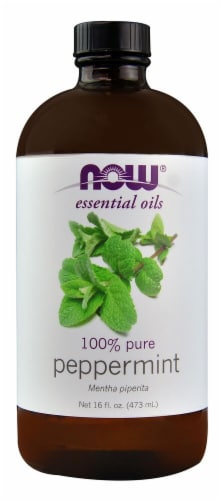 NOW Foods  Essential Oils 100% Pure Peppermint Perspective: front