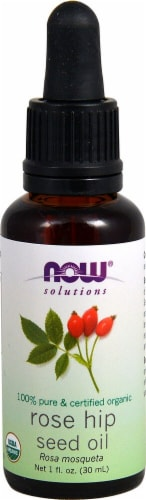 NOW Foods  Solutions Organic Rose Hip Seed Oil Perspective: front
