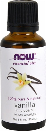 NOW Foods  Essential Oils Vanilla in Jojoba Oil Perspective: front