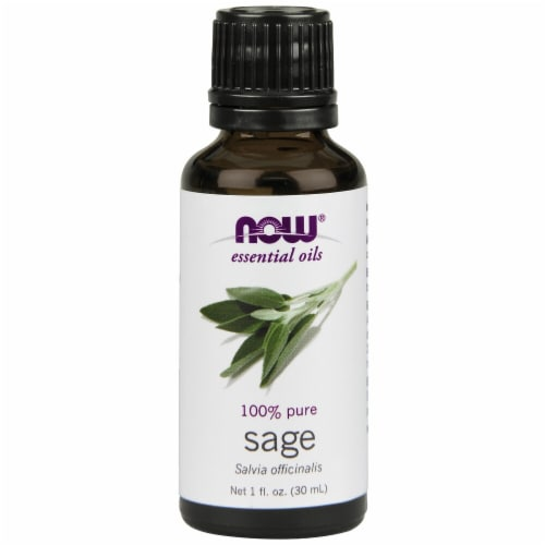 NOW Foods  Essential Oils Sage Perspective: front