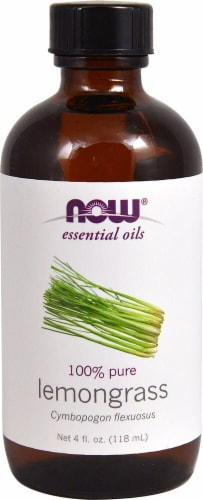 NOW Foods  Essential Oils Lemongrass Perspective: front