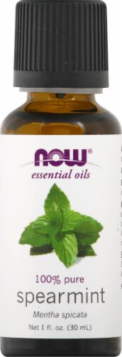 NOW Foods Spearmint Essential Oils Perspective: front