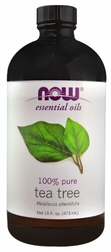 NOW Foods  Essential Oils 100% Pure Tea Tree Perspective: front