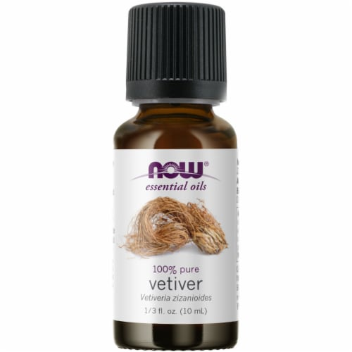 Now Vetiver Essential Oil Perspective: front